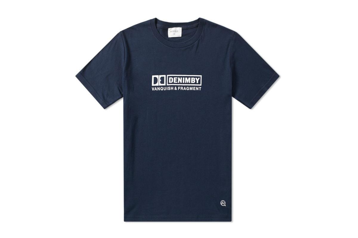 Denim by Vanquish & Fragment Box Logo T-shirt Navy