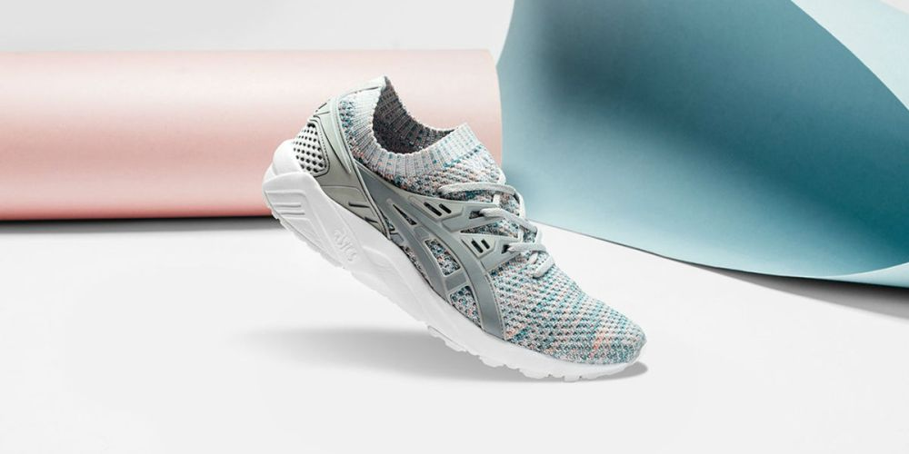 asics gel kayano trainer knit glacier grey