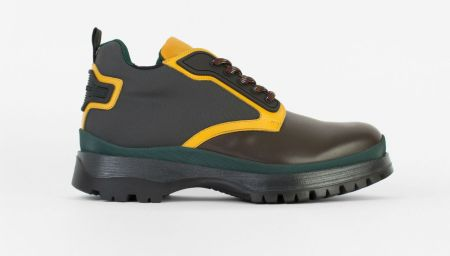 Prada Novo Hiking Boot Stomps in Multicolor