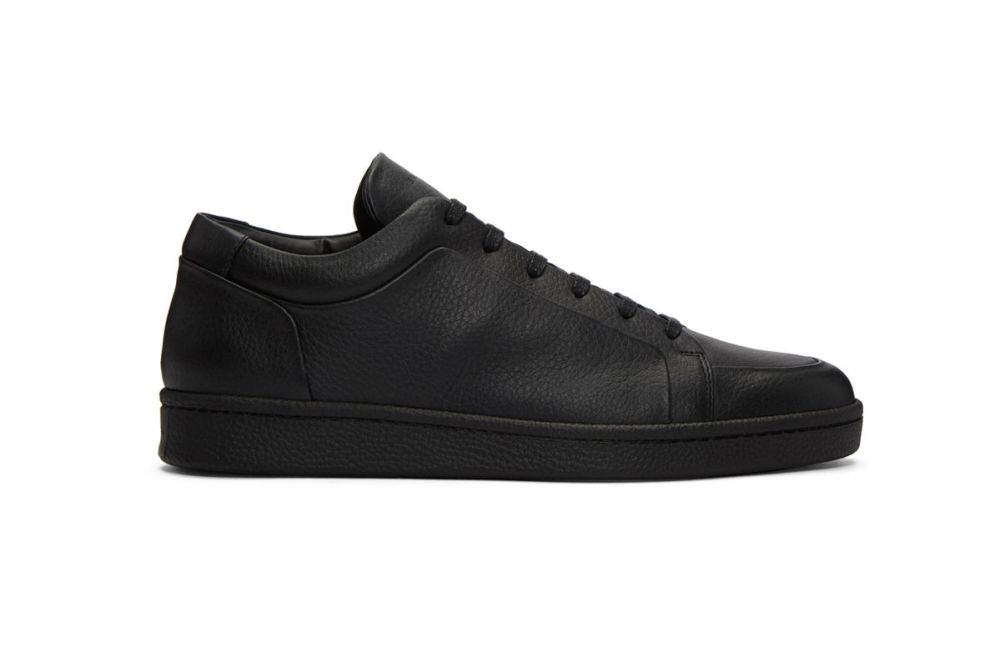 balenciaga black leather sneakers