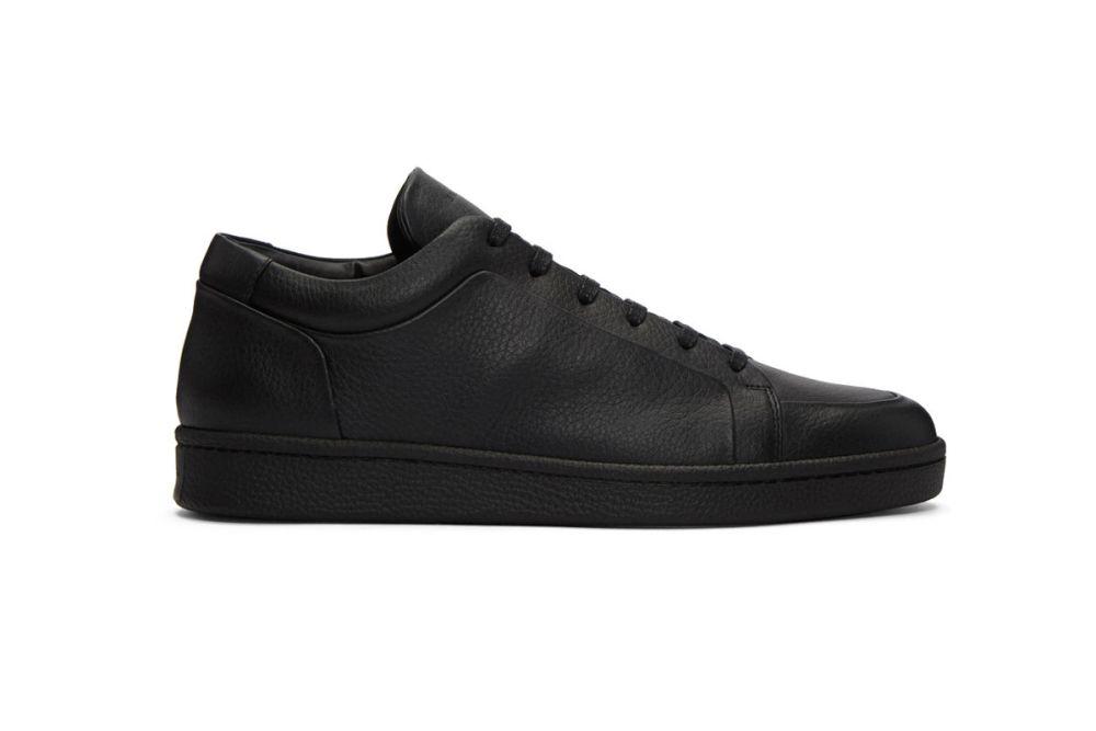 balenciaga black leather sneakers