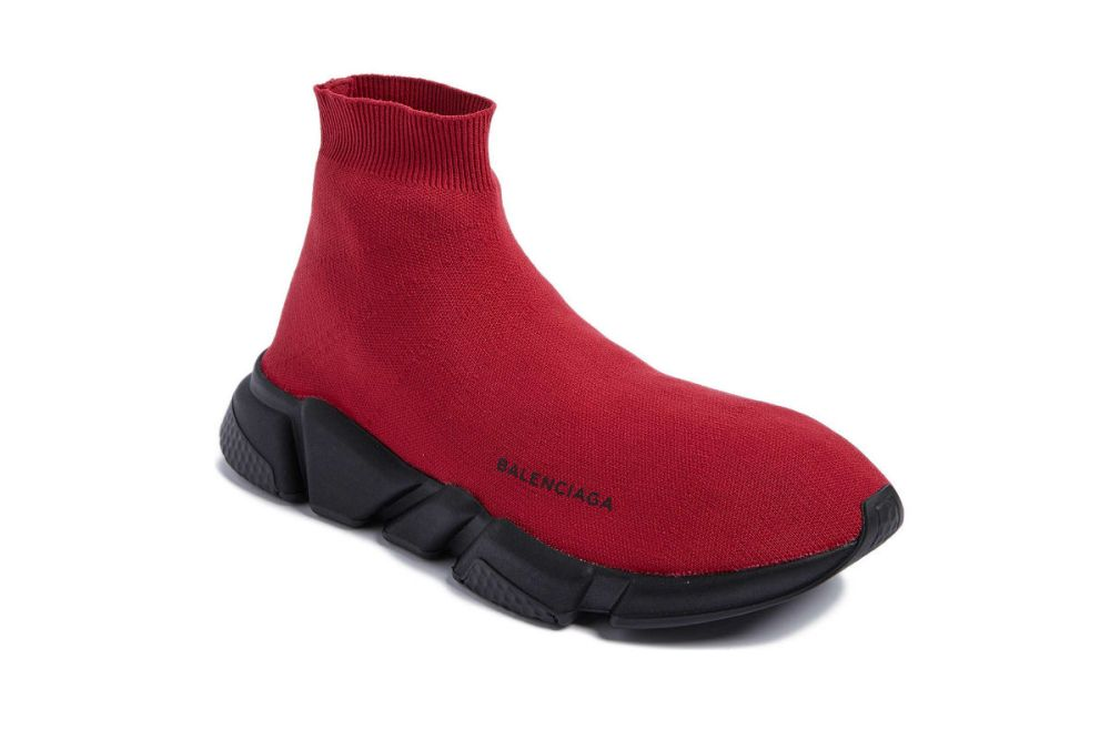 balenciaga high slip on bordeaux
