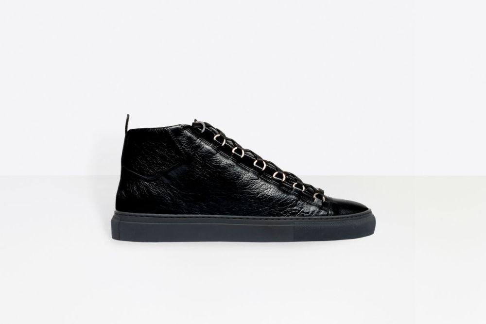 balenciaga high sneakers black
