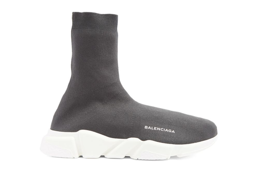 balenciaga speed high top trainer graphite grey
