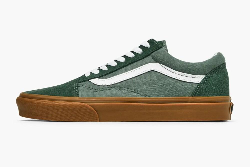 Vans old skool dark green gum