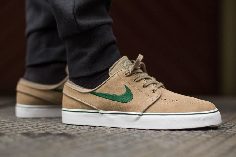 Nike SB Zoom Stefan Janoski Khaki Gorge Green