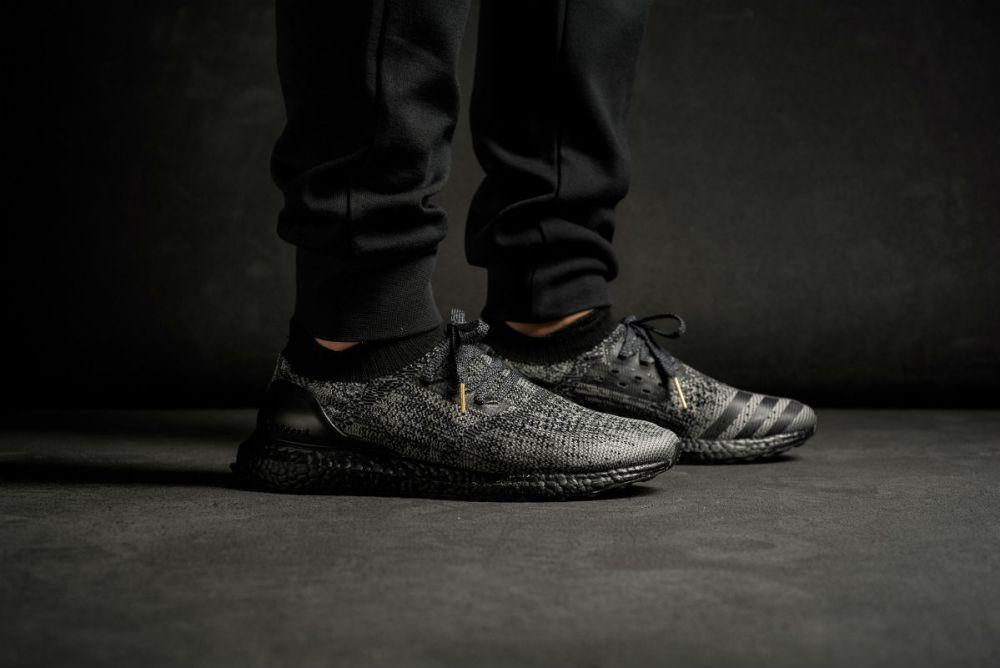 adidas Ultra Boost Uncaged Triple Black On Feet