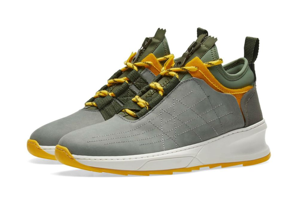 FILLING PIECES INNER CIRCLE SNEAKER MODEL SHARK ARMY GREEN