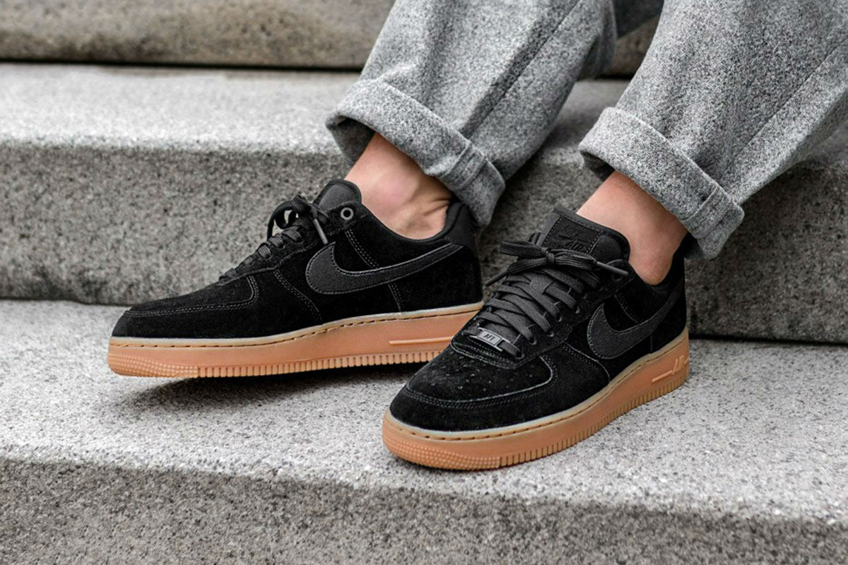 6b1688d167e0 Buy nike air force 1 07 low black suede   up to 56% Discounts