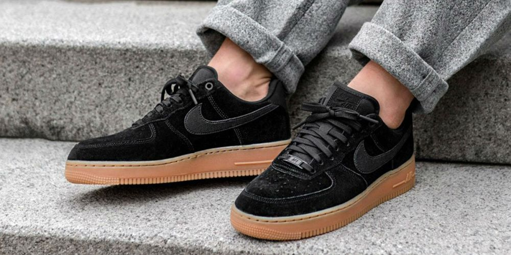 best service 6e42e 94e19 nike air force 1 07 lv8 black suede black suede