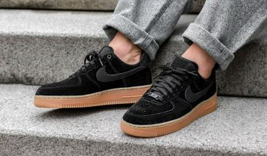 nike air force 1 07 lv8 black suede black suede