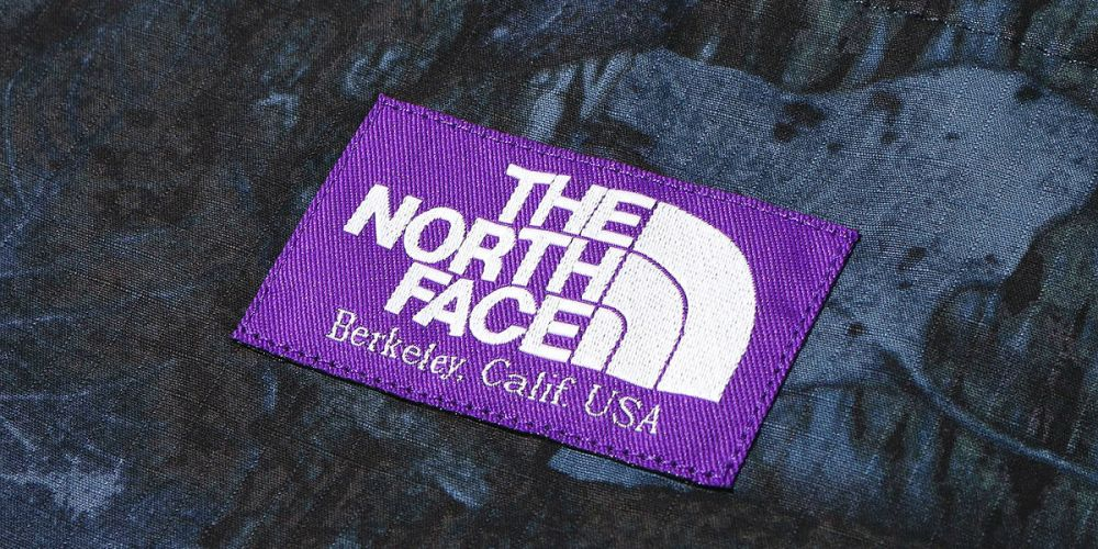 logo the north face purple label logo