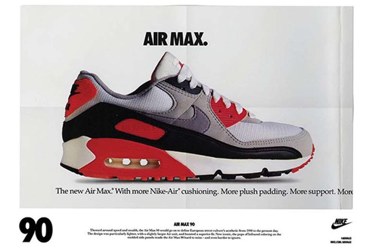 history nike air max 90 history vintage ad