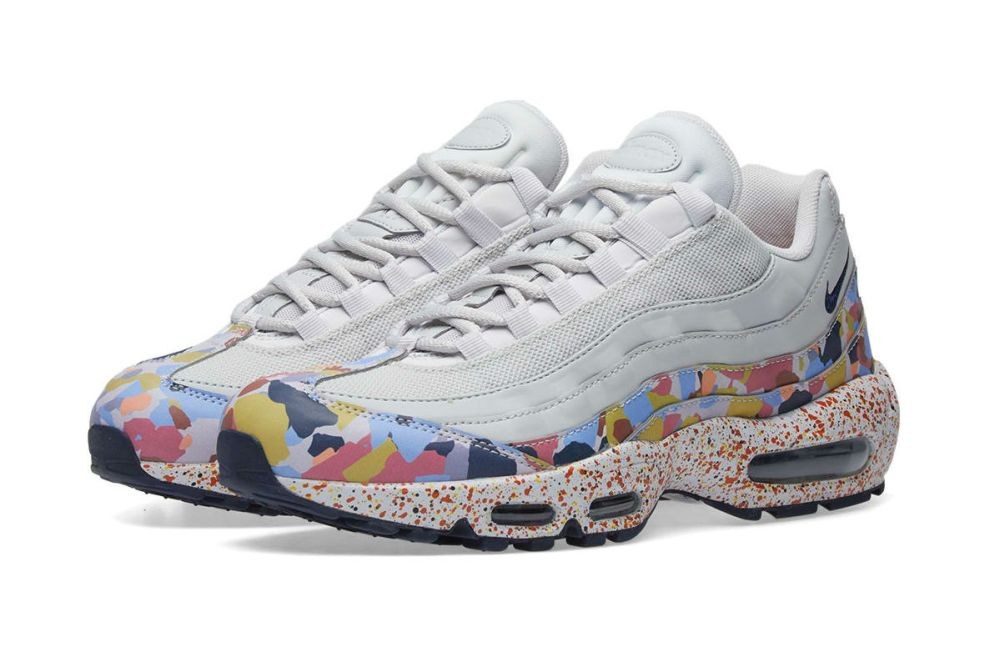 the latest 28af8 2a186 NIKE AIR MAX 95 SE W GREY, NAVY   HABANERO RED
