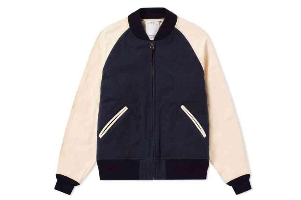 visvim varsity jacket navy