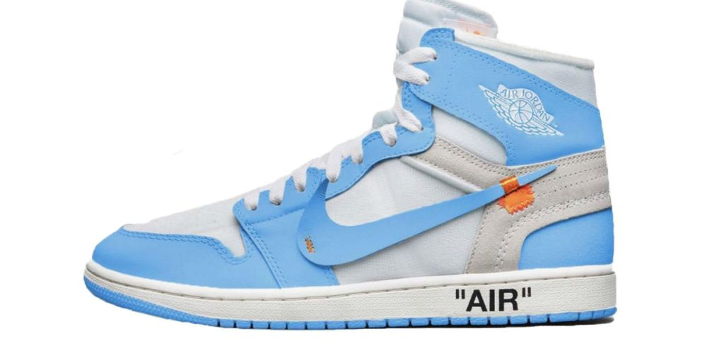 air jordan 1 off white powder blue