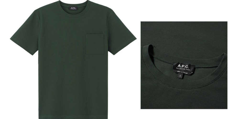 apc road tee dark green