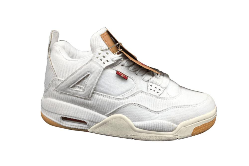 Air Jordan 4 Levi's White Denim