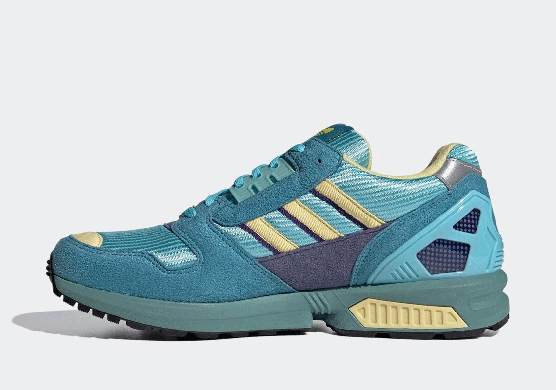 """The adidas ZX 8000 Strikes in """"Shock Yellow"""""""