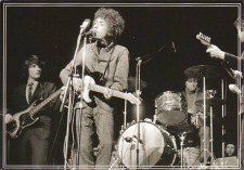 Jones on drums with Bob Dylan.