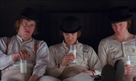 Warren Clarke (left) in A Clockwork Orange