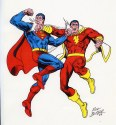 Supes Shazam figures reversed Cover 2008