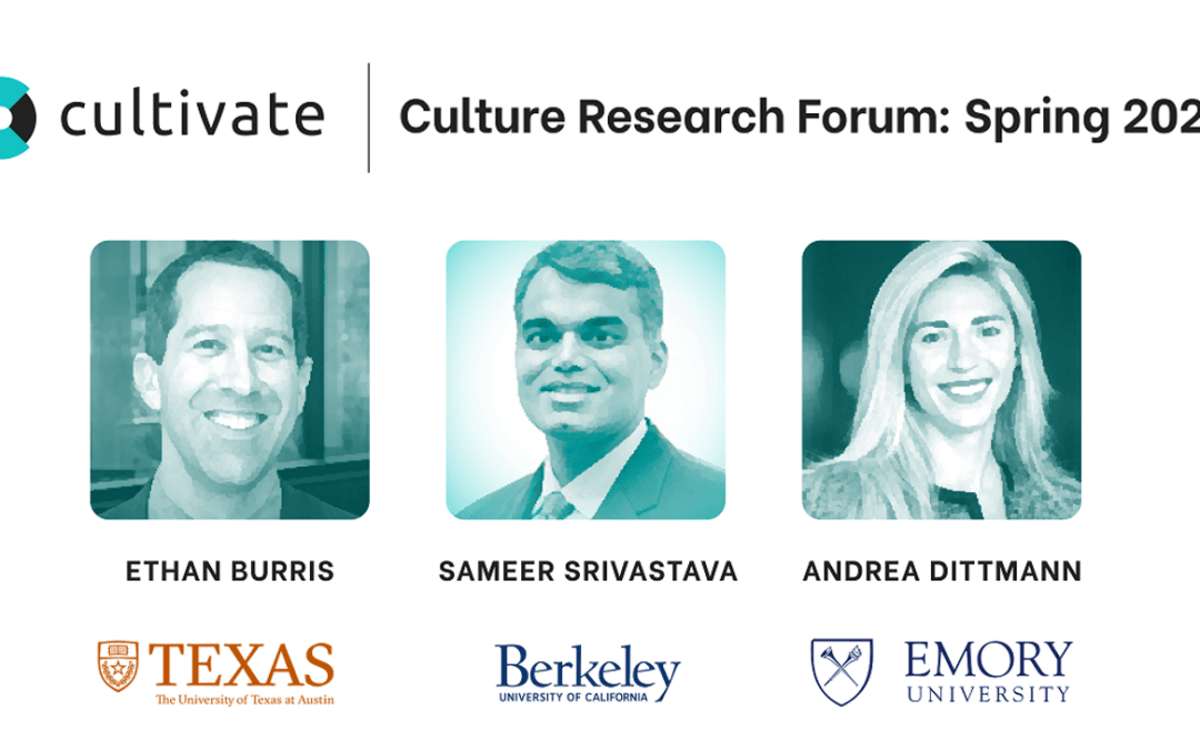 Culture Research Forum Showcases Plans for Groundbreaking Research Projects