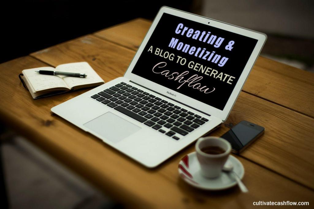 create monetize blog website