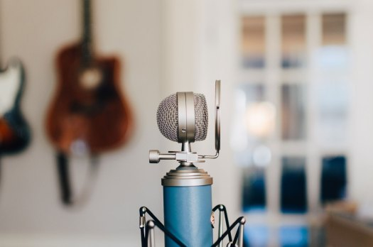 A podcast microphone