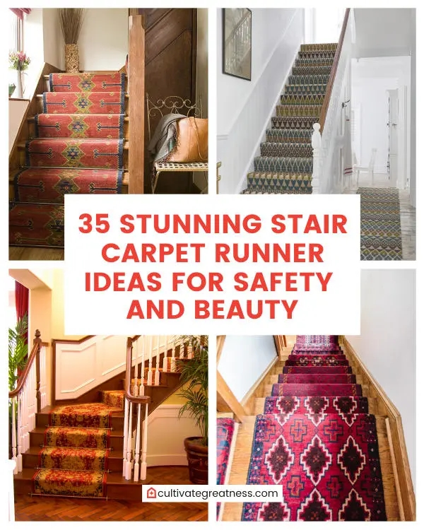 35 Stunning Stair Carpet Runner Ideas For Safety And Beauty | Stair Carpets Near Me | Basement | Diamond Pattern | Wall To Wall | Berber | Stylish