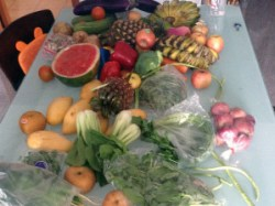 Fresh produce from the wet market