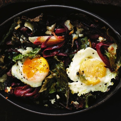 Baked Egg with Chard