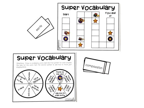 """Super Vocabulary"" Board Game for Stations"