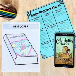 Differentiate with a book project menu