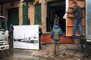 Damaged art in Chelsea, NYC Image: Gus Powell / New York Magazine