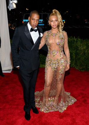 A photo of wedded couple Beyoncé and Jay-Z.