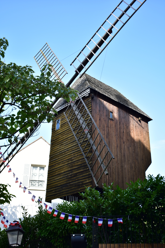 The windmill Moulin de la Galette, upon which Van Gogh's famous painting was based