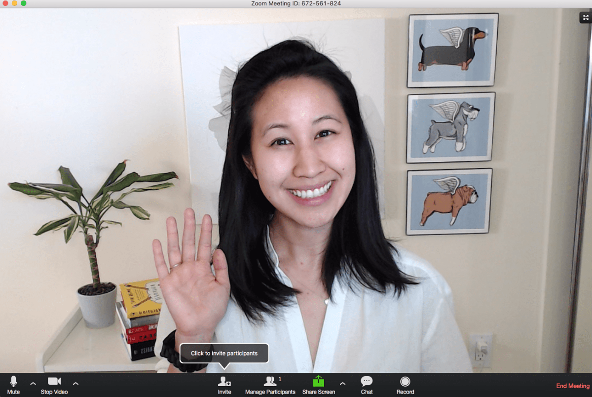 Video interview create professional background for webinars, conference calls, or video interviews from home