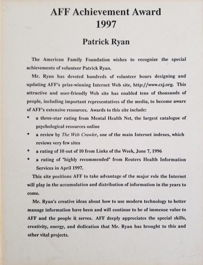 Achievement Award (1997)