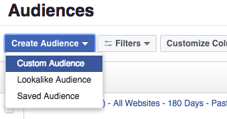 Facebook Custom Audience Time by Users