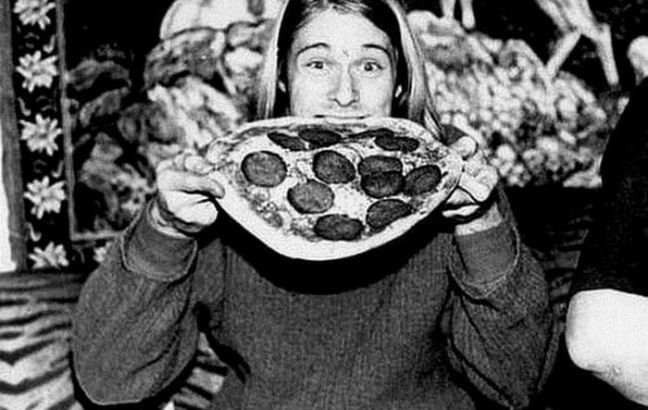 Kurt Cobain ate pizza off a paper plate and it sold for $22,400