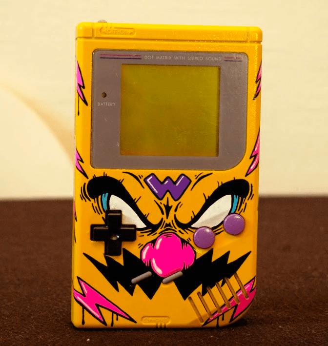 Customised Wario Gameboy