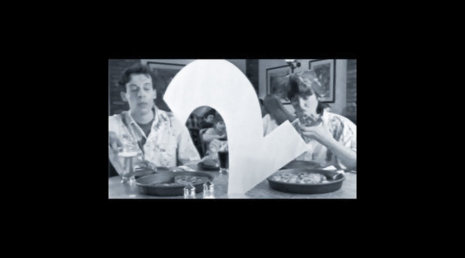 BBC2 in a Pizza Hut advert