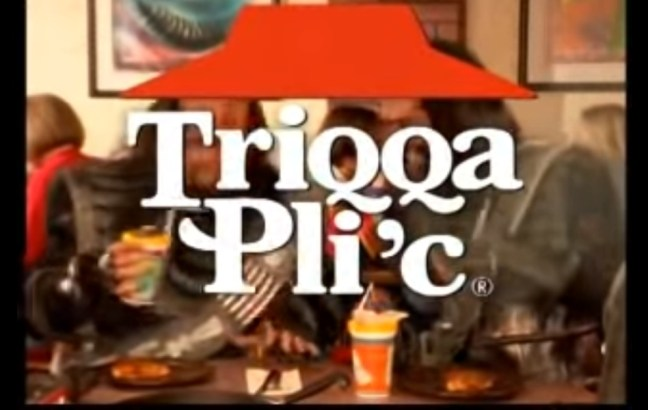 Triqqa Pli'c: a Pizza Hut advert for Klingons