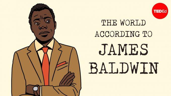 An illustration of James Baldwin
