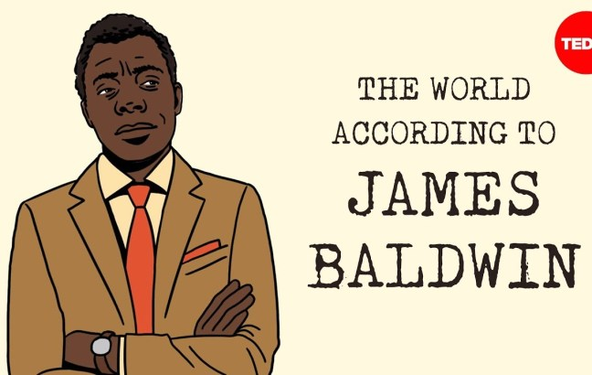 An illustration of James Baldwin