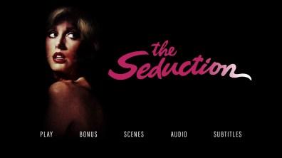 The Seduction Blu-ray menu