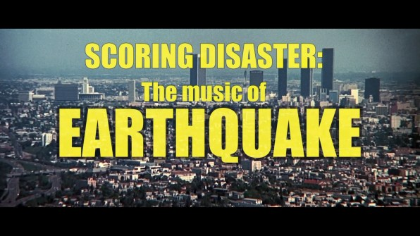 Earthquake Scoring Disaster featurette 1
