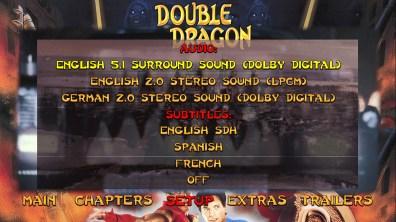 Double Dragon audio menu