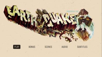 Earthquake theatrical cut Blu-ray menu